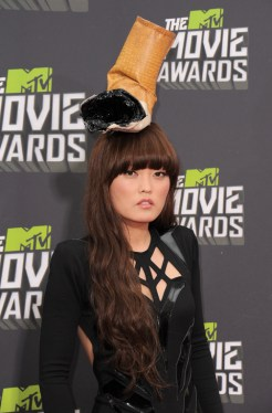 La actriz Hana Mae en MTV Movie Awards de 2013.