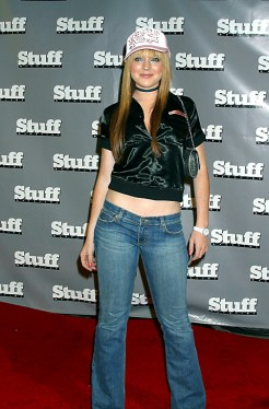 Lindsay Lohan en la fiesta de 'Stuff Magazine' con motivo de los MTV Movie Awards de 2003.