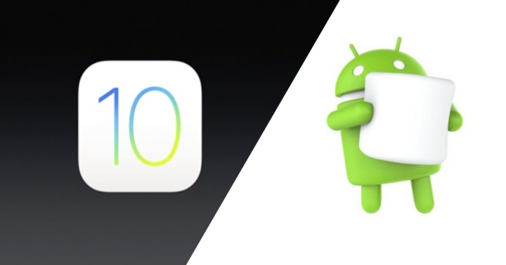 ios 10 vs android 6