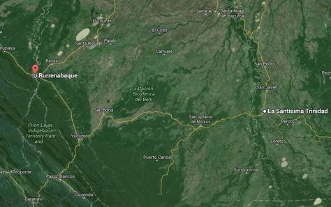 Ruta Rurrenabaque-Trinidad