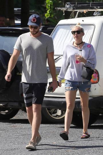 Liam Hemsworth y Miley Cyrus, en Australia el pasado abril.