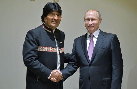 Evo Morales y Vladimír Putin