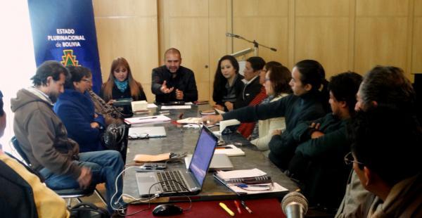 La reunión se desarrolló en el auditorio del Museo de Etnografía y Folclore de La Paz