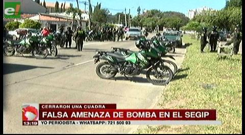 Falsa amenaza de bomba en el Segip