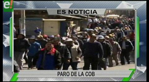 Titulares de TV: Paro de la COB es acatado en varios departamentos del país