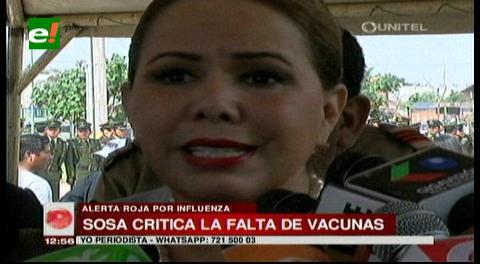 Sosa anuncia la creación de una ley para abastecer de vacunas contra la influenza