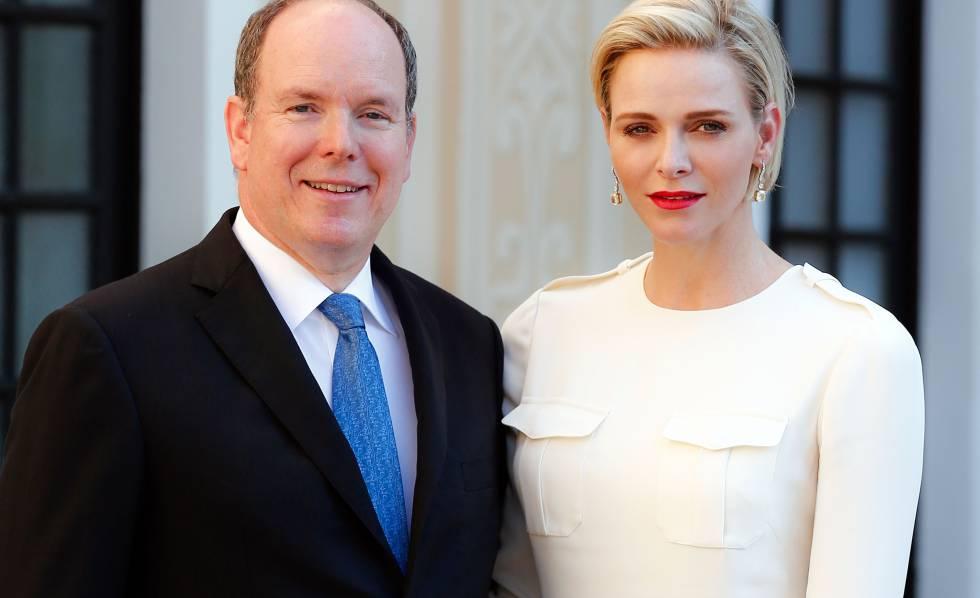Alberto y Charlene de Mónaco.