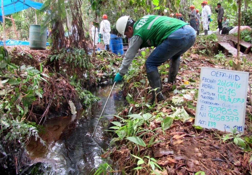 Reciente derrame en Barranca, en la selva norte.