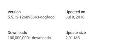 Update Size