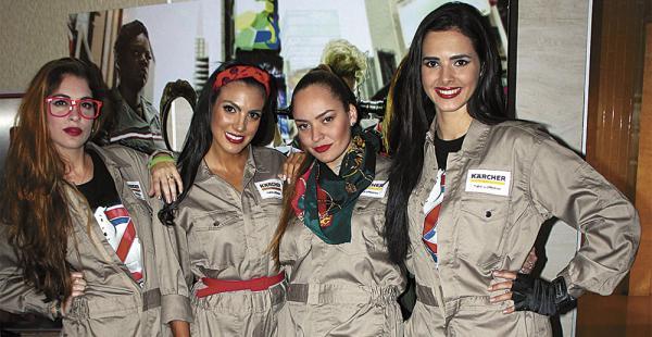 Ángeles Toribio, Lucía Gala, Daniela Martínez y Romy Paz lucieron vestimentas parecidas a las que usan las protagonistas