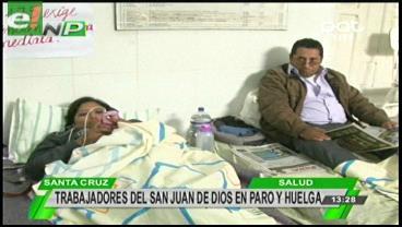 Trabajadores del San Juan de Dios en paro y huelga