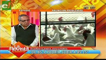 El precio del pollo podría subir de 9 a 15 bolivianos