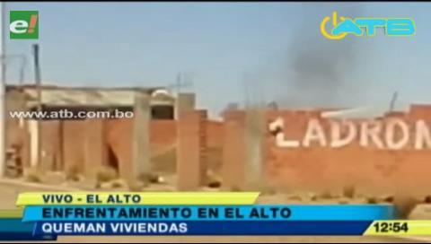 73 detenidos, dos heridos y 10 viviendas destrozadas por conflicto de tierras en El Alto