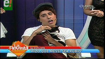 """""""Firpo Elano"""" el famoso estilista de Messi ¡llegó a Bolivia!"""