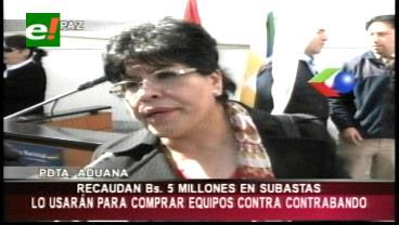 Aduana recauda Bs. 5 millones en las subastas electrónicas