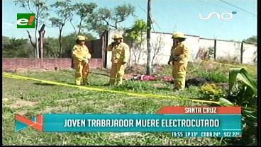 Hombre toca un poste de luz y muere electrocutado