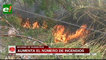 Bomberos preocupados por incremento de casos de incendios forestales