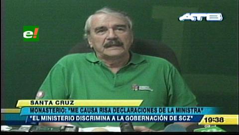 """Monasterio: """"Me causan risa las declaraciones de la ministra de Salud"""""""