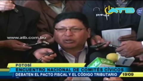 Comités Cívicos se reunieron en Potosí por pacto fiscal