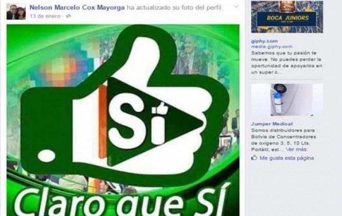 Representante de la Defensoría en Cochabamba, Marcelo Cox hizo campaña por Sí a la repostulación de Evo