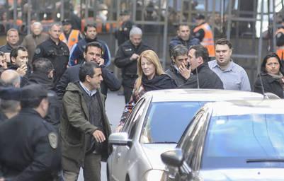 Margarita Stolbizer se retira del estudio Se desarrolla la mediacion entre la ex presidenta Cristina Fernandez de Kirchner y la diputada Margarita Stolbizer FOTO PEDRO LAZARO FERNANDEZ