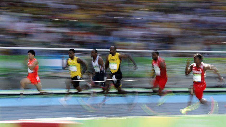 El trepidante espectáculo de los 100 metros planos. Usain Bolt, de Jamaica, ganó su ronda eliminatoria en 10,07 segundos, en los Olímpicos de Río. (Crédito: ADRIAN DENNIS/AFP/Getty Images).