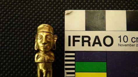 Una de las 16 piezas de la cultura de Tiwanacu e Inca