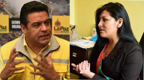 Los alcaldes de La Paz y El Alto, Luis Revilla y Soledad Chapetón, respectivamente. Foto: La Razón