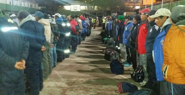 Mineros detenidos en el departamento de Oruro
