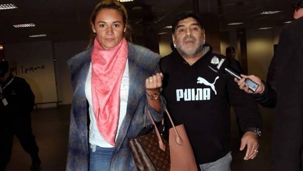Maradona y Oliva en Ezeiza