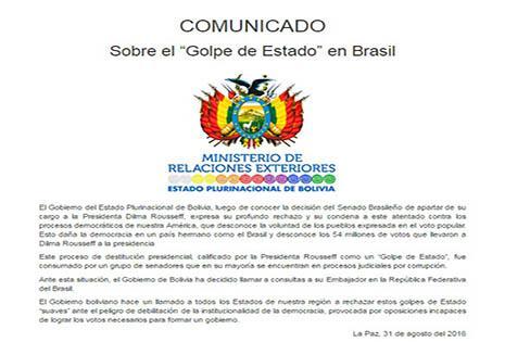 Bolivia, Brasil, Dilma