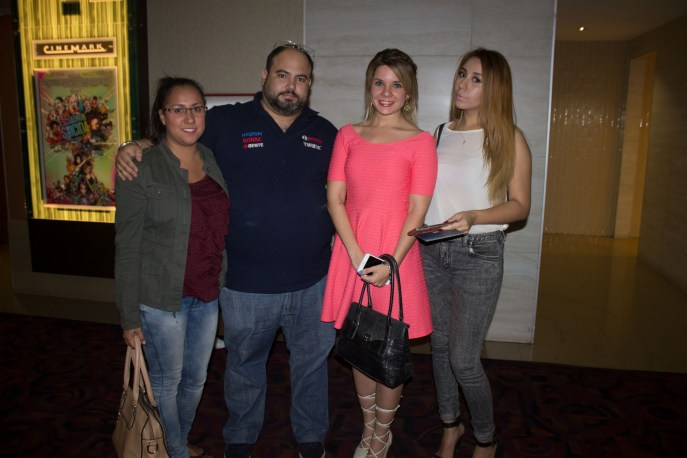 Dery Gamero, Miguel Castillo, Jessica Fabini y Andrea Gamero