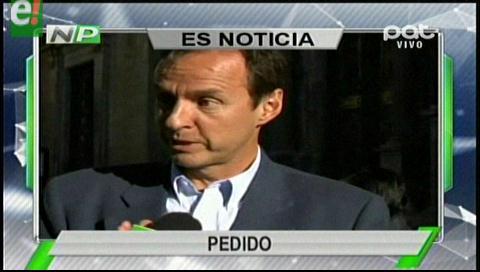 Titulares de TV: Tuto Quiroga pide a Evo vetar la ley que provocó conflicto con los cooperativistas mineros