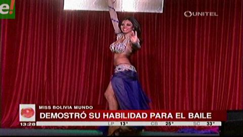 La tarijeña es la más talentosa del Miss Bolivia Mundo 2016