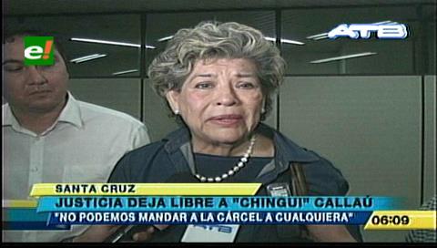 Santa Cruz. 'Chingui' Callaú es declarada inocente por la muerte de su esposo