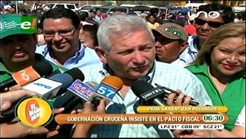 Rubén Costas demanda debatir necesariamente el Pacto Fiscal para garantizar los recursos