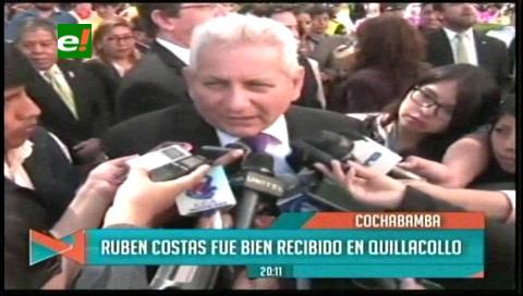 Rubén Costas participó de la fiesta por la Virgen de Urkupiña