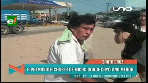 Envían a Palmasola a chofer de micro donde cayó y se golpeó una menor