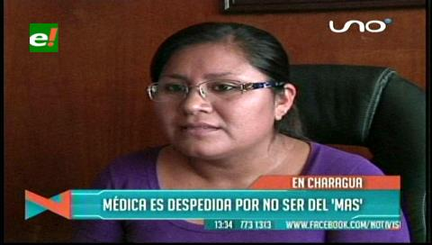 Charagua: Destituyen a doctora de un centro médico por no ser del MAS