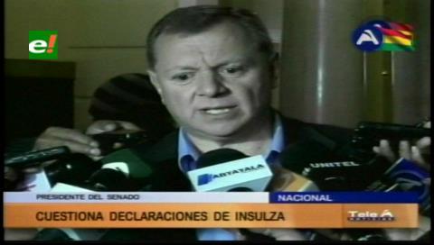Senador Gonzáles cuestiona a Insulza quien habló de respeto a su país