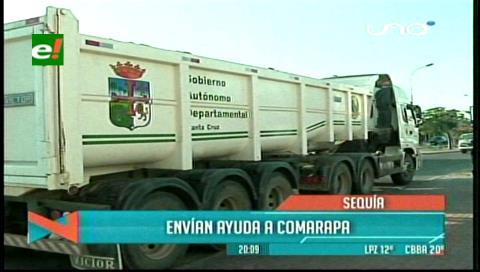 Sequía: Envían primeras 20 toneladas de forraje a Comarapa
