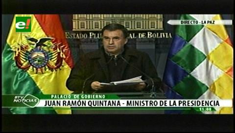 Ministro Quintana utiliza canal estatal para destruir a senador opositor Óscar Ortiz