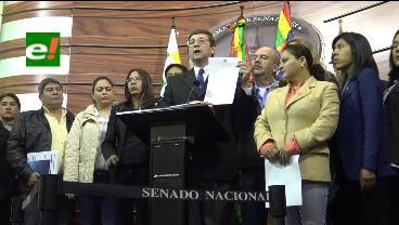 Senador Ortiz solicitó a Bolivia Tv el mismo tiempo que usó ministro Quintana para acusarlo