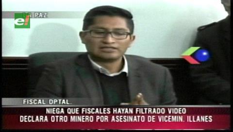 Edwin Blanco niega que fiscales hayan filtrado video de Illanes con mineros