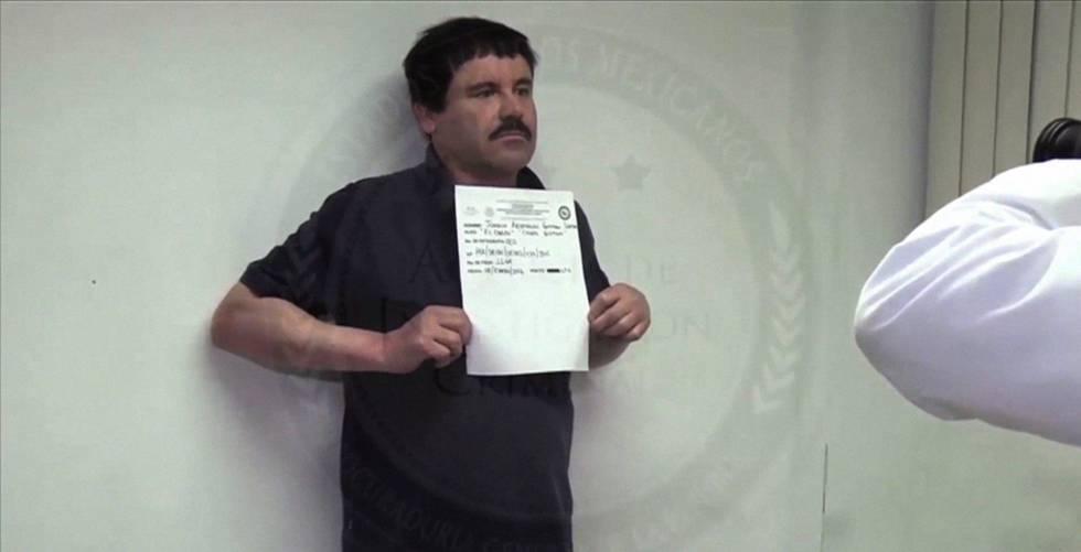 Joaquín Guzmán Loera a las pocas horas de su última captura en enero pasado.