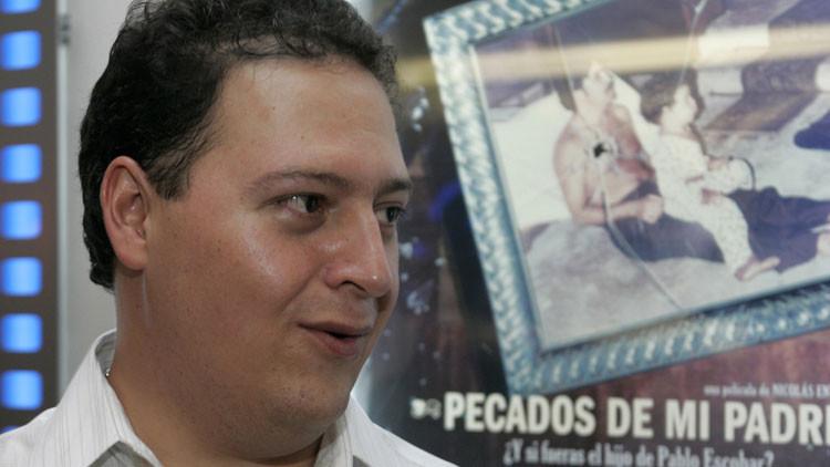 Sebastián Marroquín, hijo del fallecido narcotraficante colombiano Pablo Escobar, fotografiado antes del estreno del documental