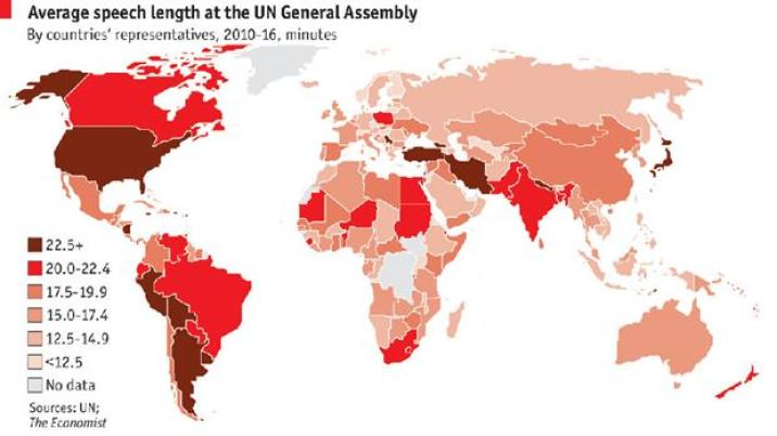 El mapa que realizó The Economist