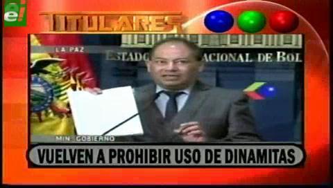 Titulares de TV: Gobierno vuelve a prohibir el uso de explosivos en marchas y huelgas