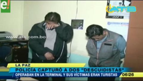 Dos extranjeros que asaltaban a turistas fueron detenidos
