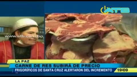 Subirá el precio de la carne en La Paz
